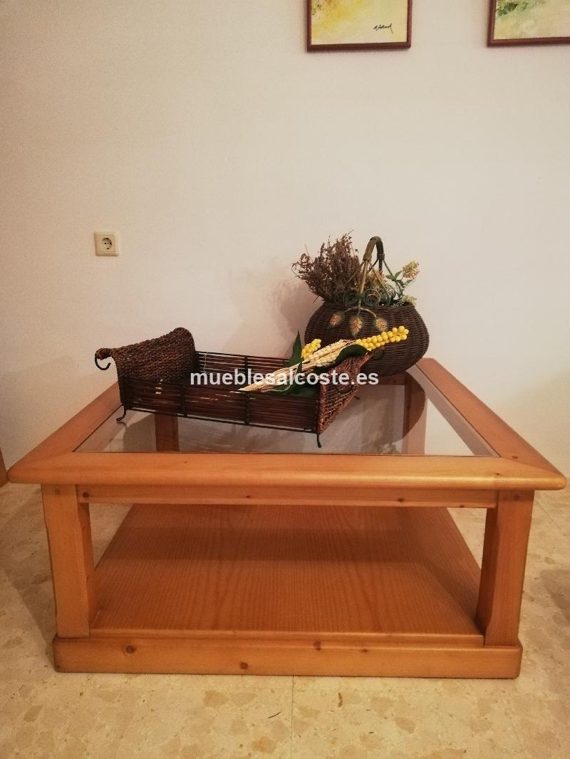Mesa Centro madera maciza de abeto sueco