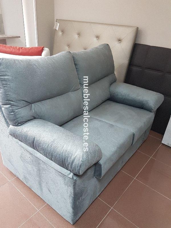 Sofa 2 plazas tapizado duna gris desenfundable