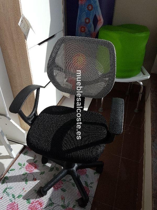 Silla Estudio Color Gris Negro