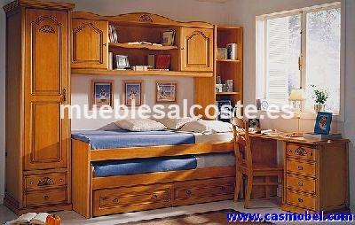 Dormitorio juvenil en madera maciza cod 2565 liquidacion for Dormitorio moderno de madera maciza