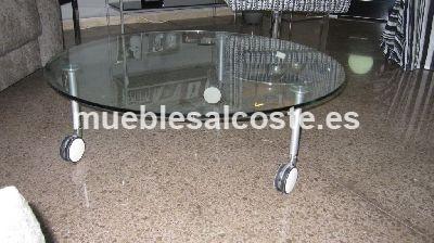 Mesa centro cristal con ruedas cod 2474 liquidacion - Mesa centro ruedas ...