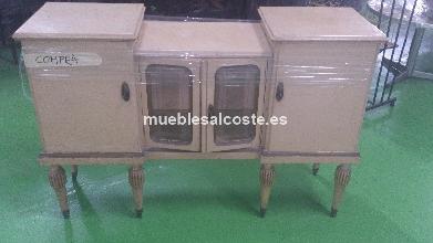Mesa de escritorio vintage de maderas nobles cod 12834 - Escritorio vintage segunda mano ...
