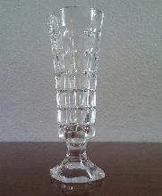 VIOLETERO - FLORERO - JARRONCITO de vidrio transparente.