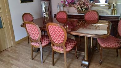 mesa salon con seis sillas