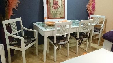 Conjunto mesa + 2 sillas + 2 sillones