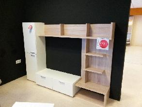 COMPOSICION TV ROBLE/BLANCO