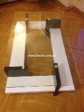 Mesa de centro en cristal y madera nueva
