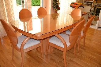 Mesa y sillas fresno mazizo