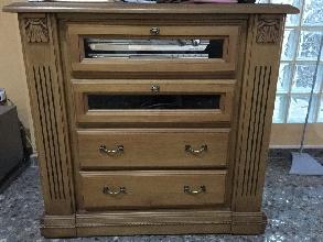 Mueble de tv de madera color roble
