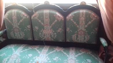 conjunto tresillo sillones y sillas estilo isabelino