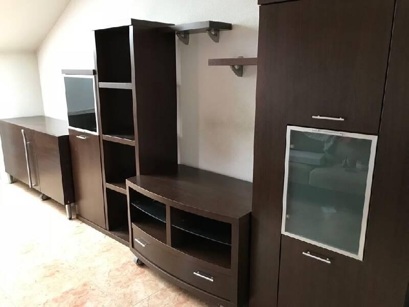 Artesanato De Madeira Rustica ~ Mueble modular salon madera wengue cod 24703 segunda mano, Mueblesalcoste es