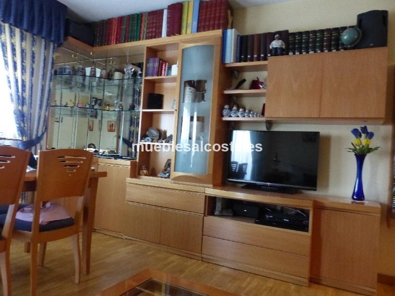 Muebles salon madera de haya cod 12831 segunda mano for Muebles de segundamano madrid