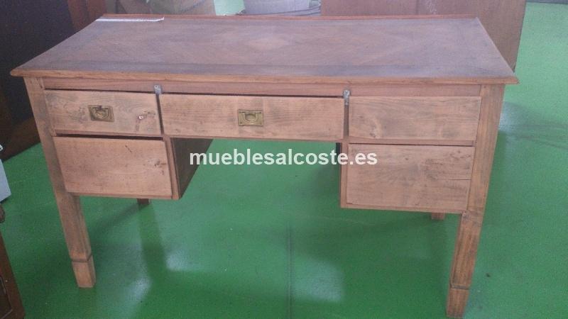 Mesa de escritorio vintage de maderas nobles cod 12834 for Sillas de escritorio segunda mano