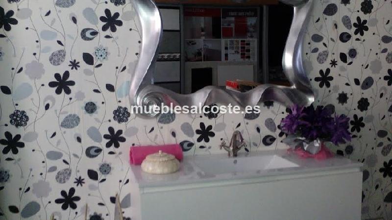 Muebles De Baño Liquidacion:liquidación mueble cuero blanco baño 120 (cambio de escaparate)