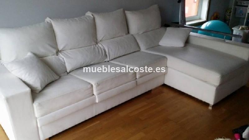 Sofa chaiselong polipiel blanco cod 12899 segunda mano - Sofa blanco polipiel ...
