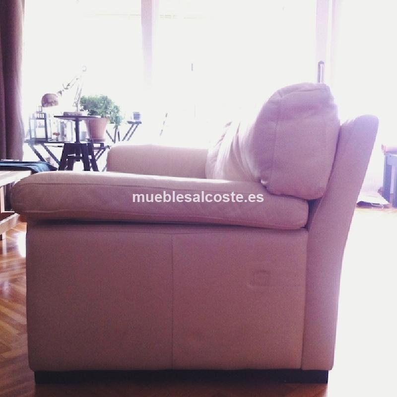 Sofa piel de excelente calidad cod 12900 segunda mano for Sofas de piel en barcelona