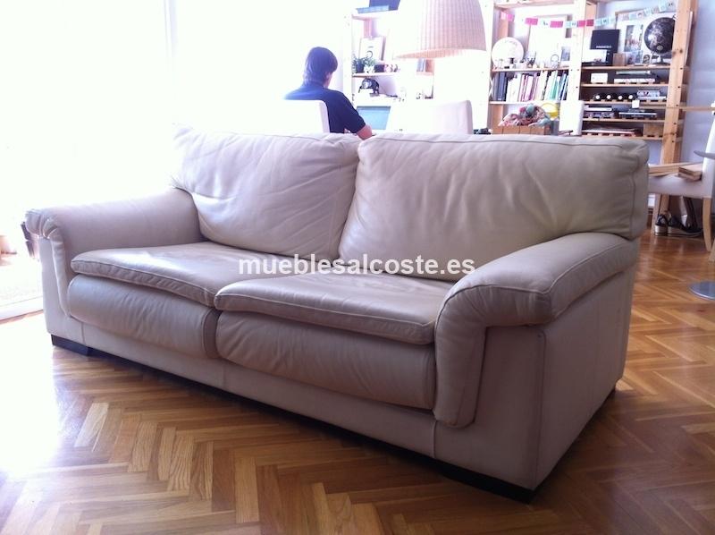 Sofa piel de excelente calidad cod 12900 segunda mano - Sofas de buena calidad ...