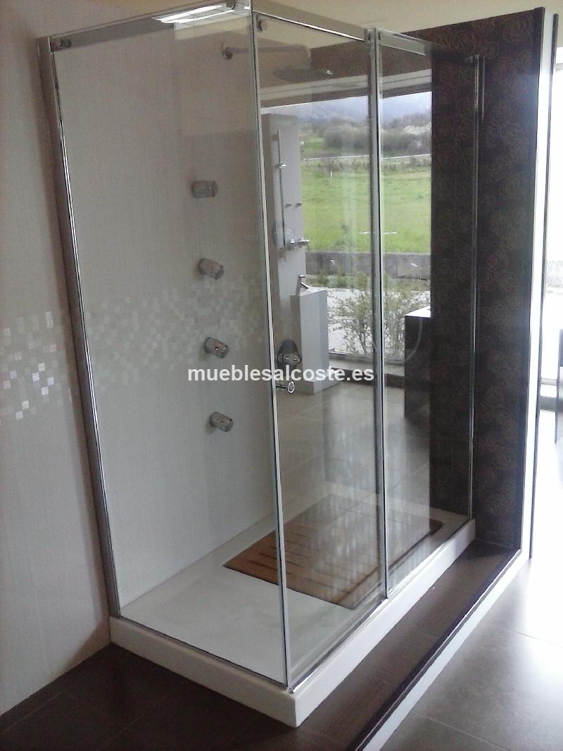 Mamparas De Ducha Asturias.Conjunto Mampara Yy Plato Ducha Cod 26545 Segunda Mano
