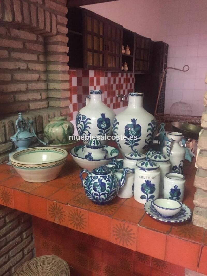 Conjunto cerámica Sargadelos en azul