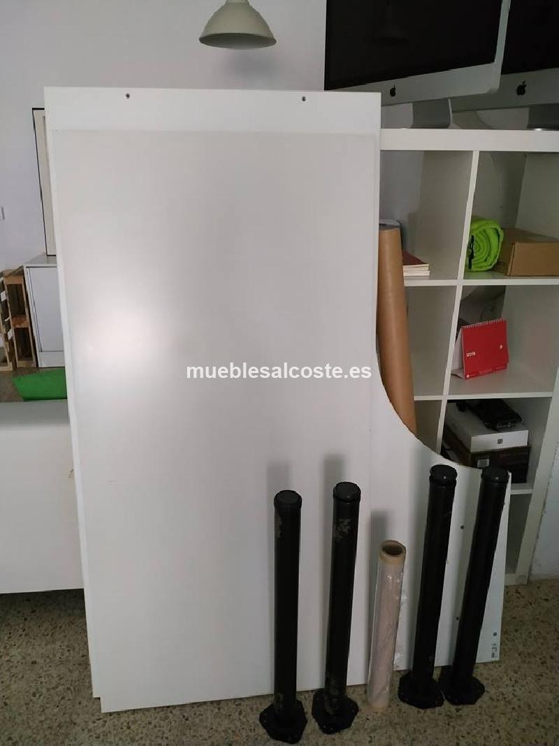 mesas de oficina blancas IKEA cod:28501 segunda mano, Mueblesalcoste.es