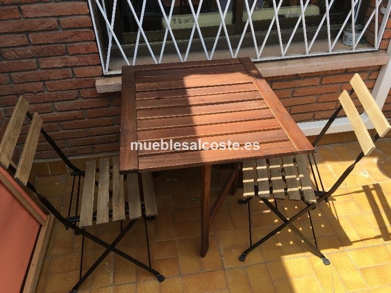 Mesa jardin AMPLARO - IKEA con 2 sillas