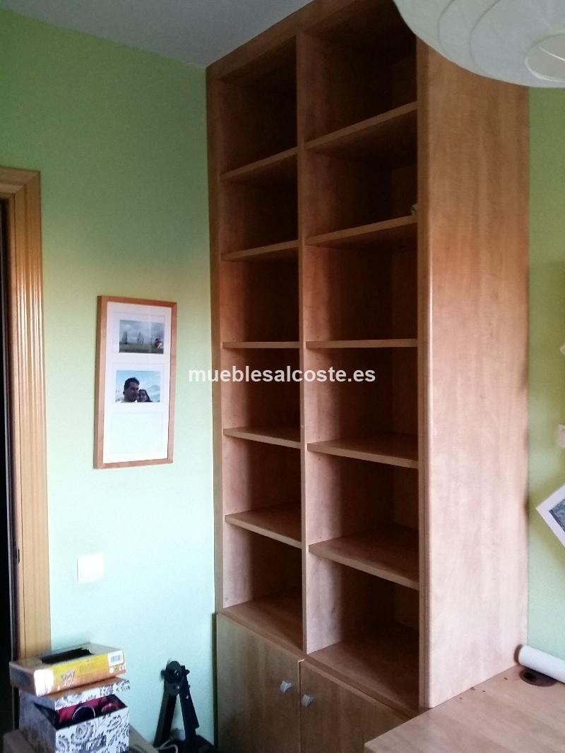 Mueble despacho estilo moderno acabado chapa natural for Muebles despacho segunda mano