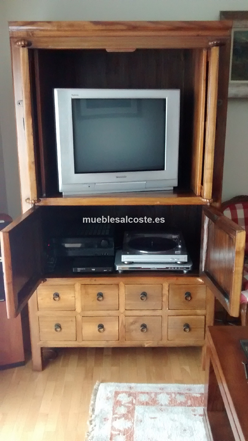 mueble tv oriental colonial cod 13003 segunda mano