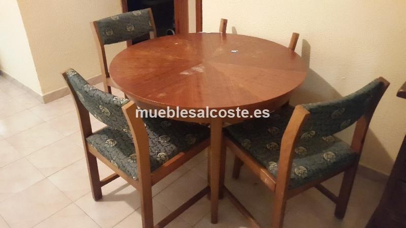 Mesa cocina estilo cl sico neocl sico acabado madera cod 13025 segunda mano - Mesa cocina segunda mano ...