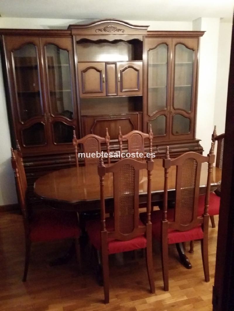 Mueble y mesa con sillas salon comedor cod 13145 segunda for Mesa salon comedor