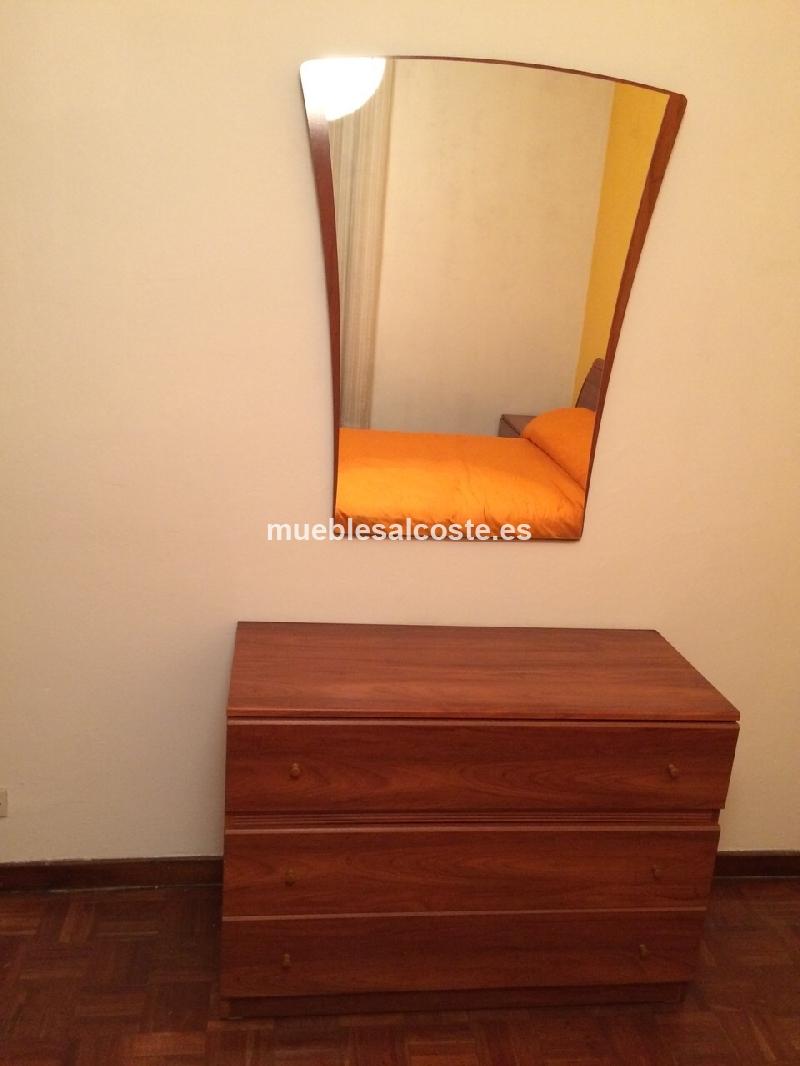 Dormitorio completo estilo madera acabado madera cod for Dormitorio completo