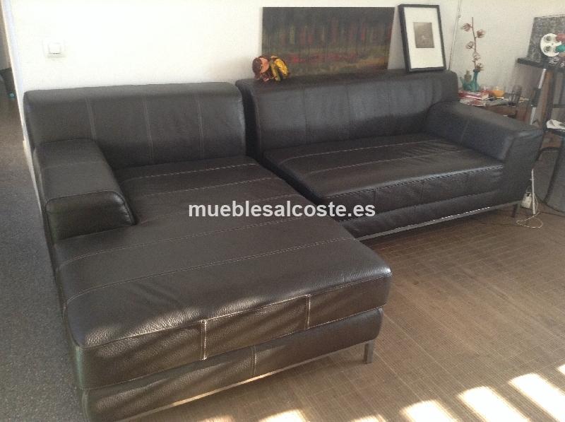Sofa piel Ikea Kramfors cod segunda mano Mueblesalcoste