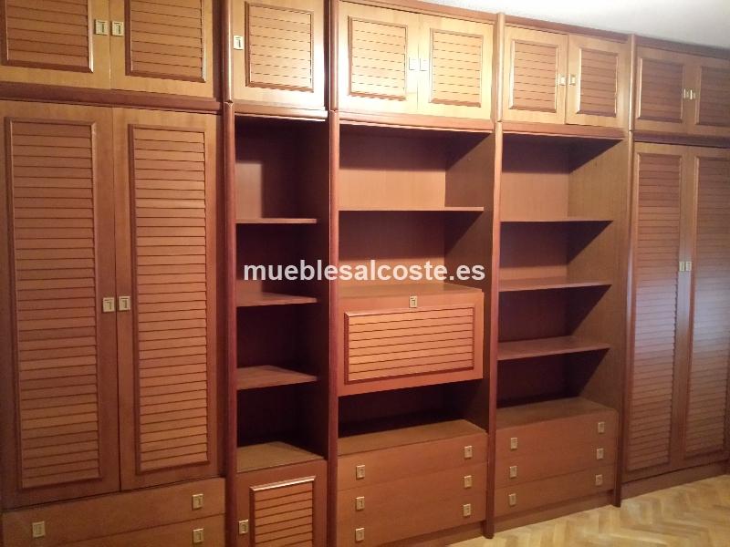 Mueble modular juvenil con cama escritorio y armarios cod for Cama escondida en mueble