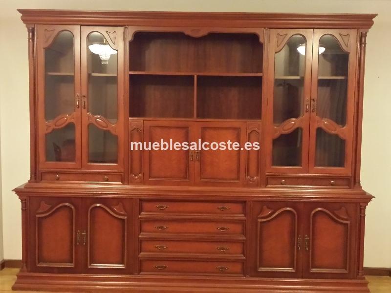 Mueble de salon de 3 metros en madera maciza cod 13215 segunda mano - Muebles de salon segunda mano madrid ...