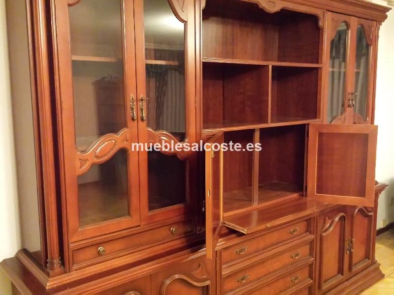 Mueble de salon de 3 metros en madera maciza cod 13215 for Muebles salon madera maciza