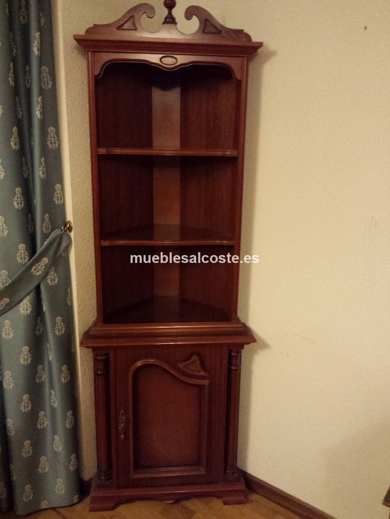 Mueble esquinero de estilo cod 13216 segunda mano for Muebles esquineros de madera