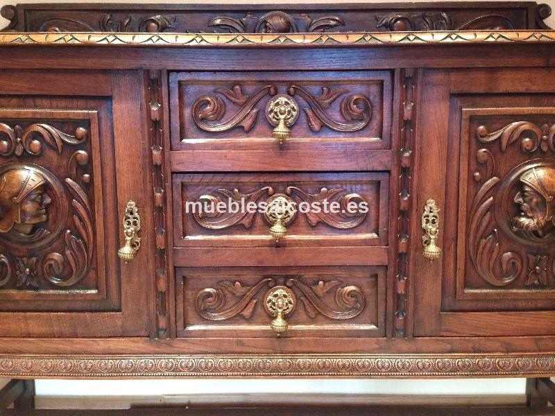 Mueble aparador estilo madera acabado madera cod 13225 for Muebles antiguos asturias