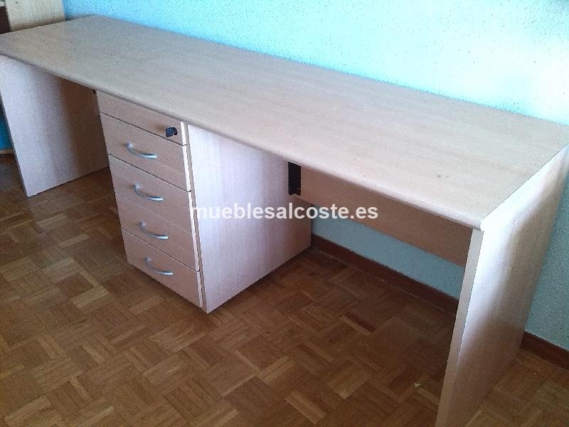 Mesa escritorio doble cod 13240 segunda mano - Escritorios segunda mano barcelona ...