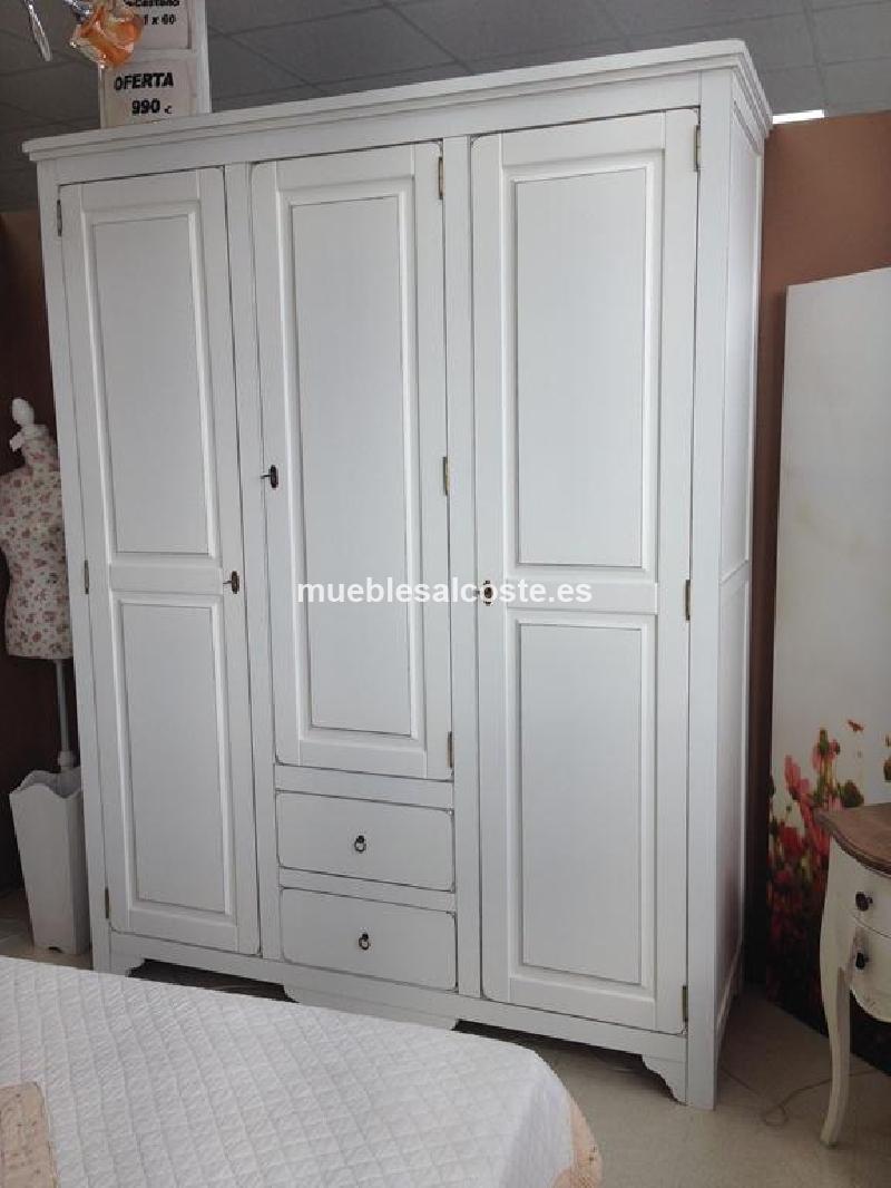 Armario de castano blanco cod 13375 liquidacion for Armario salon blanco