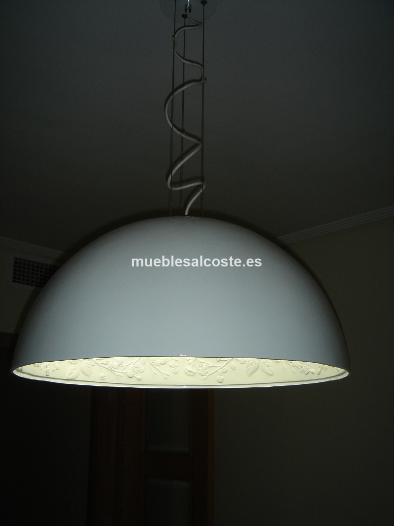 LAMPARA DE DISEÑO BLANCA PARA COMEDOR cod:13390 segunda mano ...