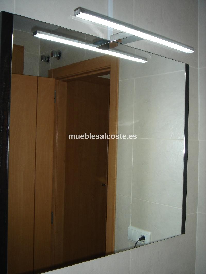 Espejo de ba o wengue foco led cod 13393 segunda mano - Focos para bano ...