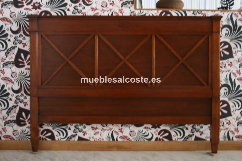 Cabecero madera de cerezo cod 13436 segunda mano - Cabecero segunda mano ...