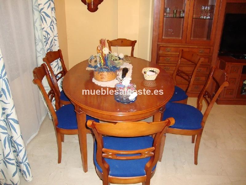 Mesa comedor con 6 sillas cod 13446 segunda mano for Sillas comedor sevilla