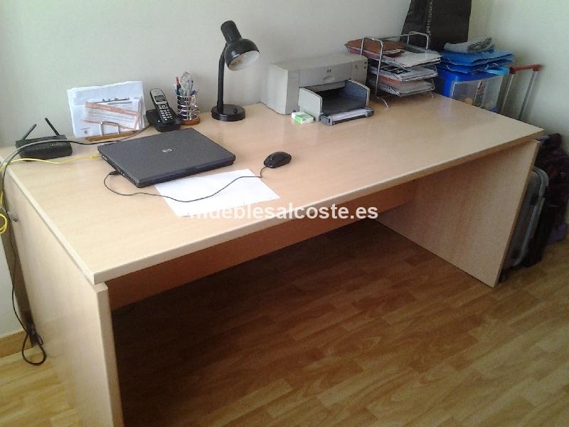 Mesa despacho y cajonera cod:13591 segunda mano, Mueblesalcoste.es
