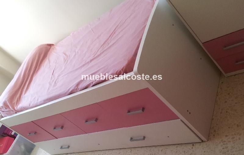 Cama nido dos camas 4 cajoneras cod 13594 segunda mano for Cama nido dos colchones