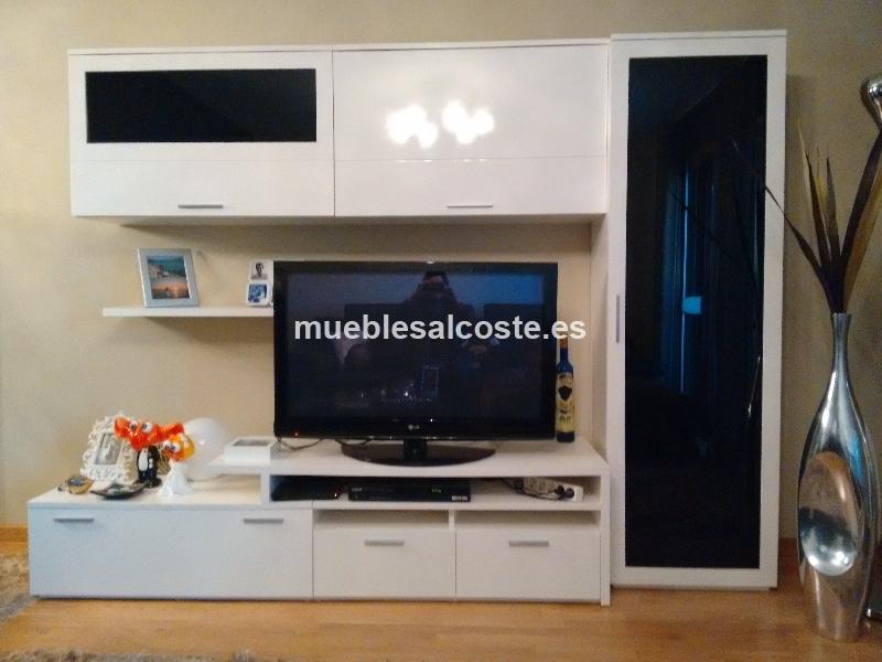 MUEBLE SALON LACADO EN BLANCO DE LUJO 13681 segunda mano
