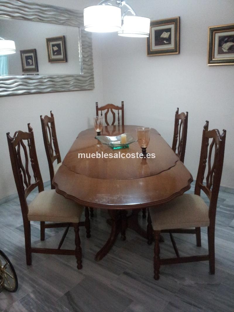 Mesa comedor y cinco sillas cod 13717 segunda mano for Sillas comedor sevilla