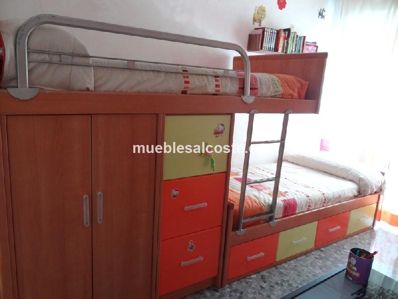Mueble con camas infantil cod 13764 segunda mano for Segunda mano muebles infantiles