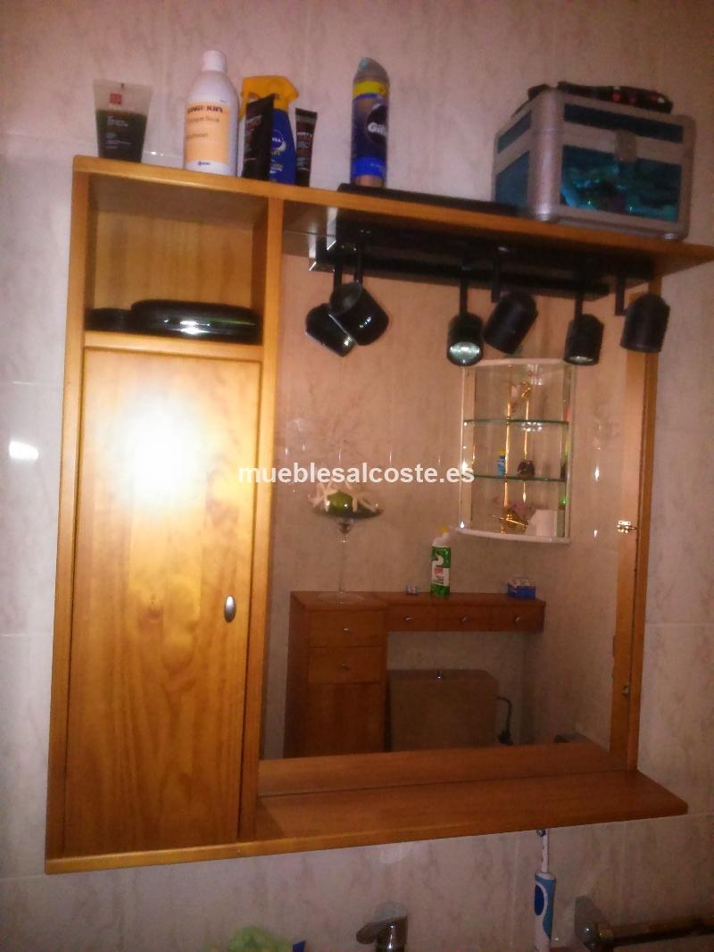 Muebles bano estilo madera acabado madera cod 13805 for Muebles de bano segunda mano
