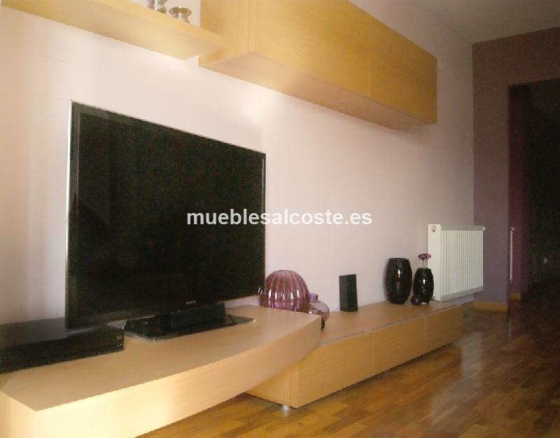 Conjunto mueble salon tv ebanis cod 13838 segunda mano for Muebles segunda mano lugo