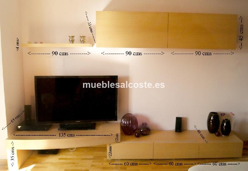 CONJUNTO MUEBLE SALON TV EBANIS cod:13838 segunda mano ...
